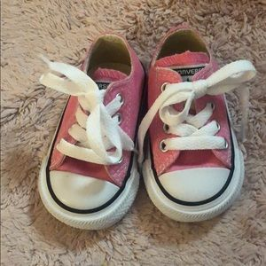 Size 2 pink converse brand new never worn